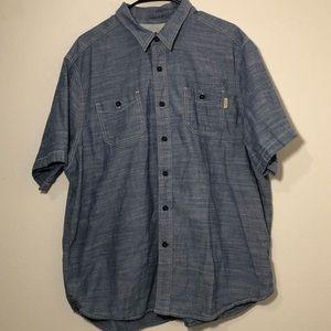 Woolrich button up shirt men's XXL 100% cotton